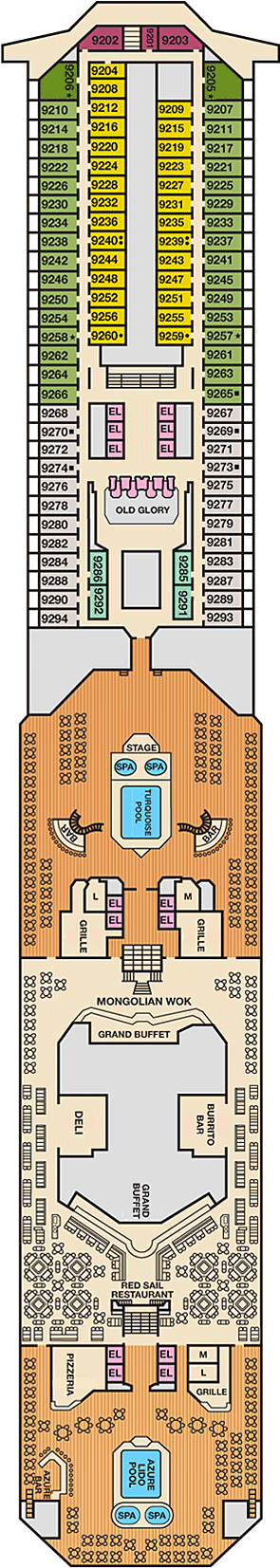 Carnival Glory Deck Map on
