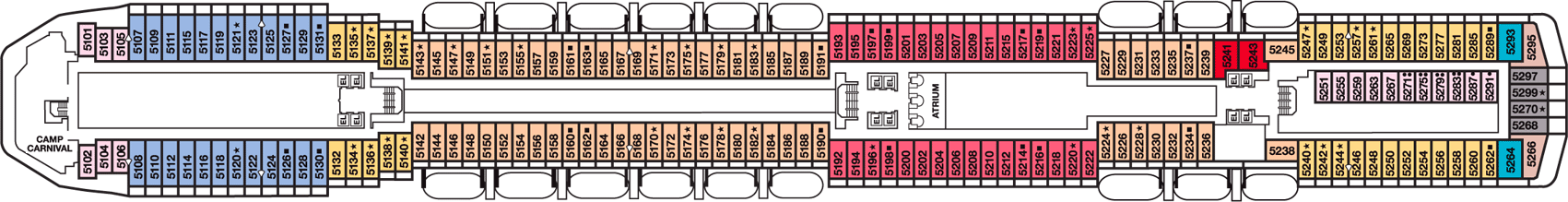 Carnival Miracle Deck Plans Cabins