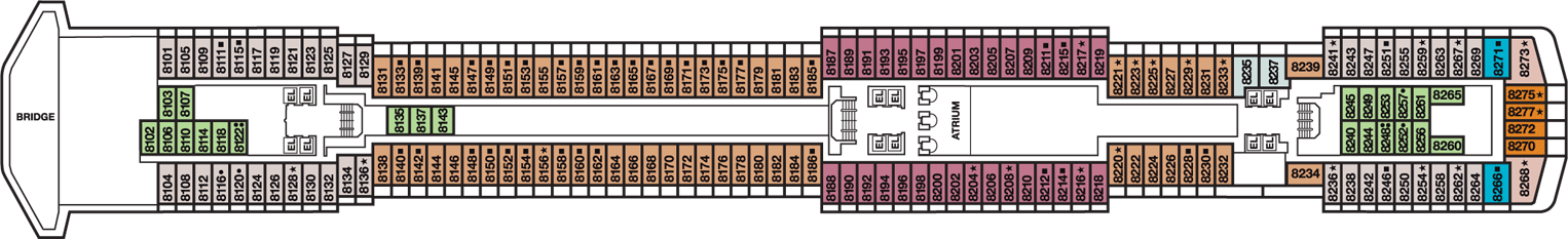Carnival Miracle Deck Plan