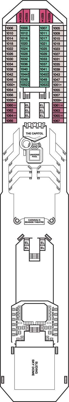 Carnival Triumph Panorama Deck Deck Plan Carnival Triumph Deck - Carnival triumph itinerary