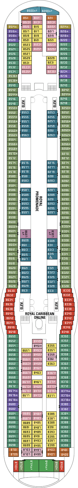 Independence Of The Seas Deck Plans