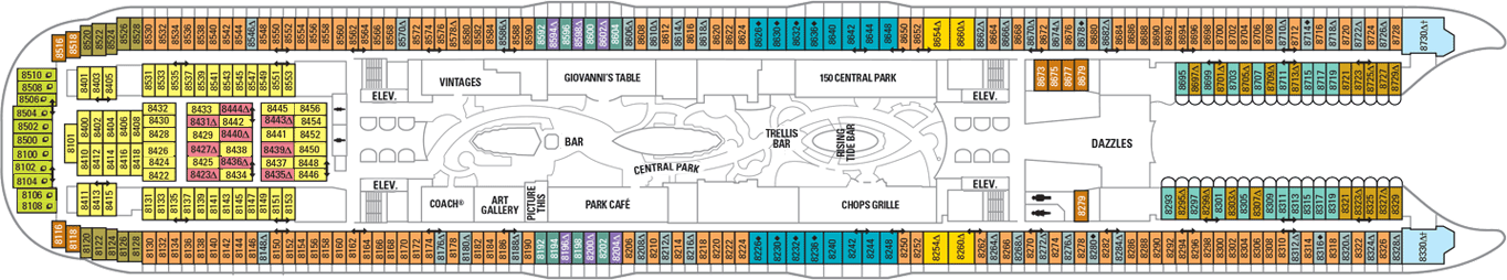 cabin plan oasis of the seas
